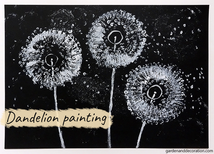 DIY_Dandelion painting by gardenanddecoration.com