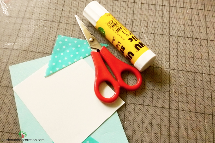DIY: What you´ll need for the blue happy birthday card
