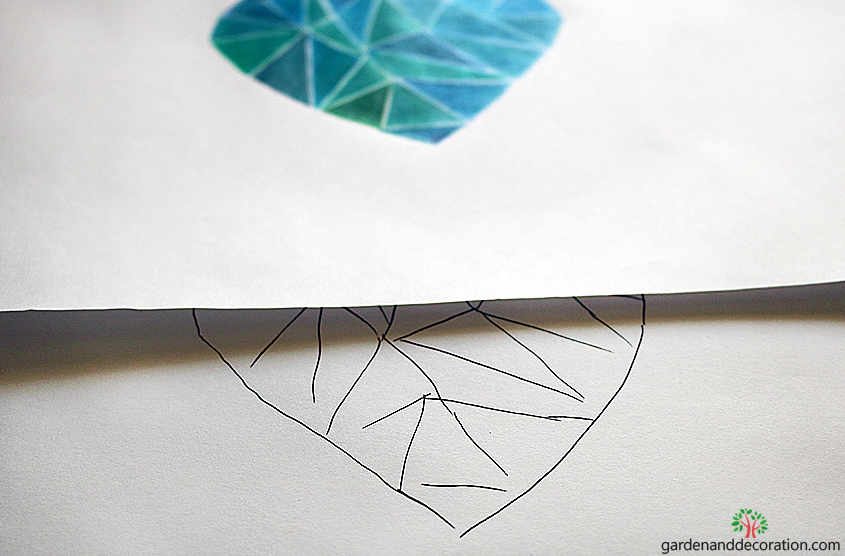 How to draw the diamond heart_by Maggy from gardenanddecoration.com