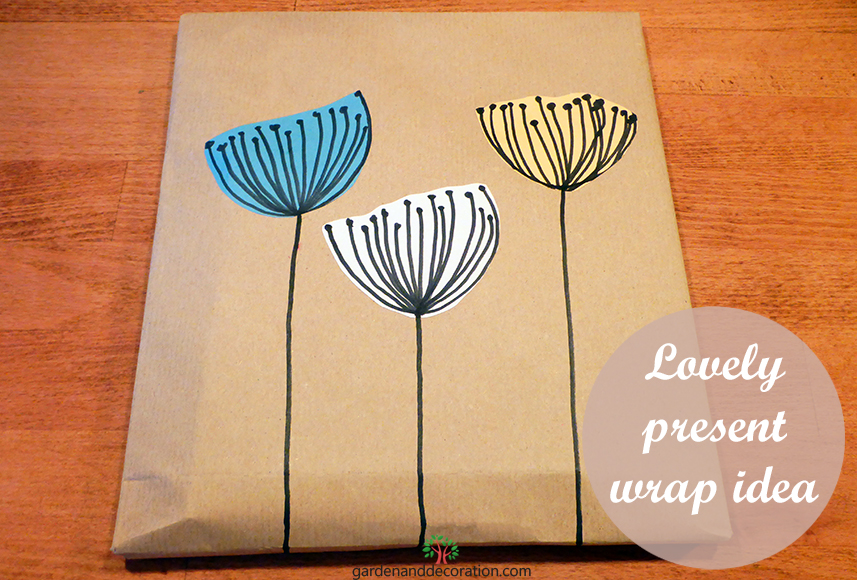 DIY: Lovely present wrap idea_by gardenanddecoration.com