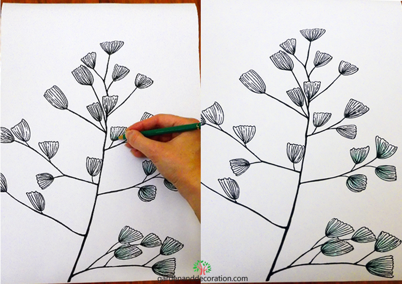 DIY_Leafy handillustration_by Maggy from gardenanddecoration