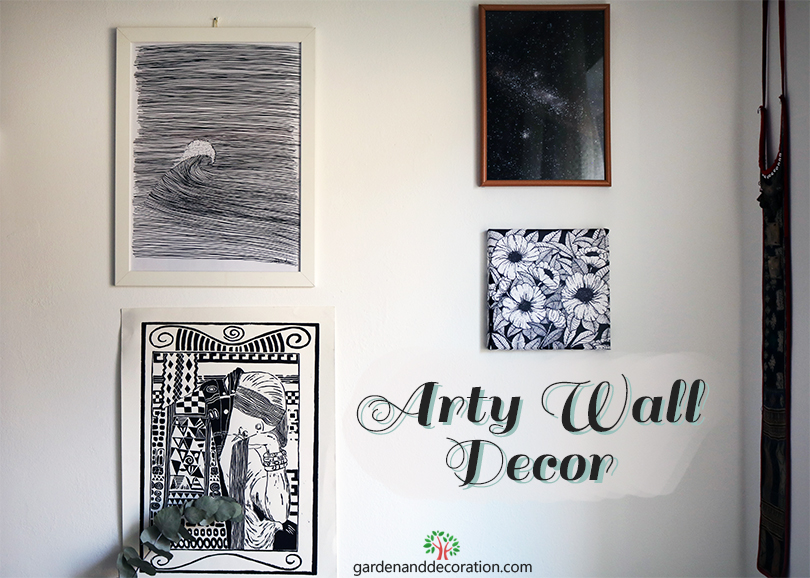 New wall decoration with prints_by Maggy_from gardenanddecoration.com