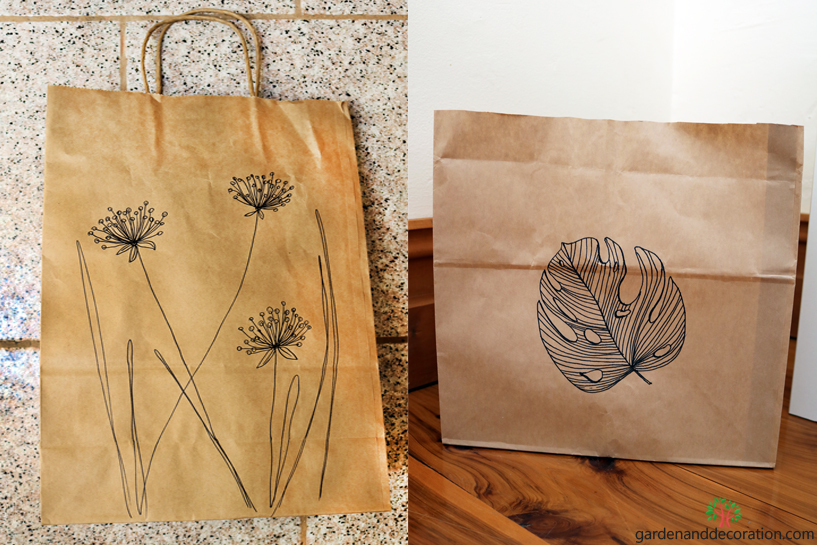 DIY_Reused paper bags as wastebin_by gardenanddecoraton.com