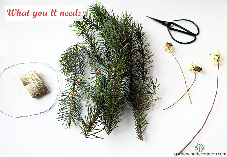 DIY_What you´ll need for candle X-mas decoration